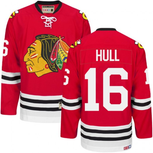 Bobby Hull Chicago Blackhawks Men's CCM Authentic Red New Throwback Jersey