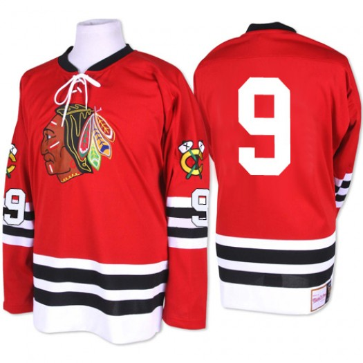 Bobby Hull Chicago Blackhawks Men's Mitchell and Ness Authentic Red 1960-61 Throwback Jersey