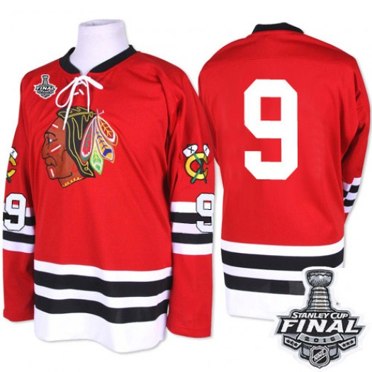 Bobby Hull Chicago Blackhawks Men's Mitchell and Ness Premier Red 1960-61 Throwback 2015 Stanley Cup Patch Jersey