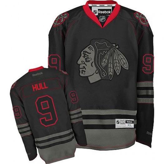 Bobby Hull Chicago Blackhawks Men's Reebok Authentic Black Ice Jersey
