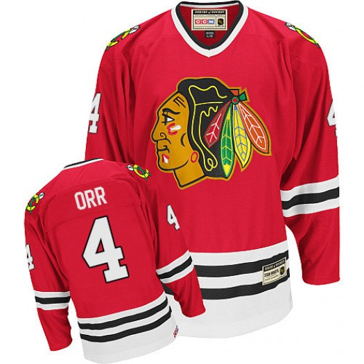 Bobby Orr Chicago Blackhawks Men's CCM Authentic Red Throwback Jersey