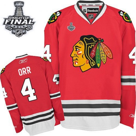 Bobby Orr Chicago Blackhawks Men's Reebok Authentic Red Home 2015 Stanley Cup Patch Jersey