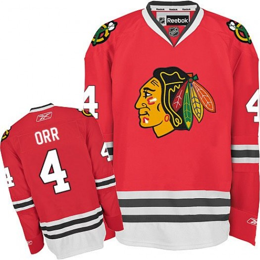 Bobby Orr Chicago Blackhawks Men's Reebok Authentic Red Home Jersey