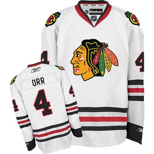 Bobby Orr Chicago Blackhawks Men's Reebok Authentic White Away Jersey