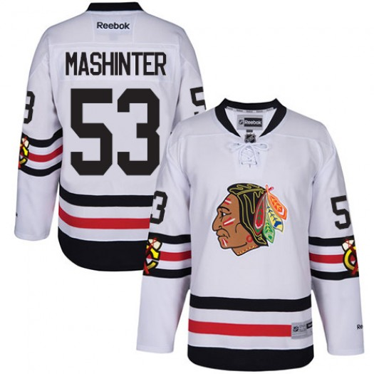 Brandon Mashinter Chicago Blackhawks Men's Reebok Authentic White 2017 Winter Classic Jersey