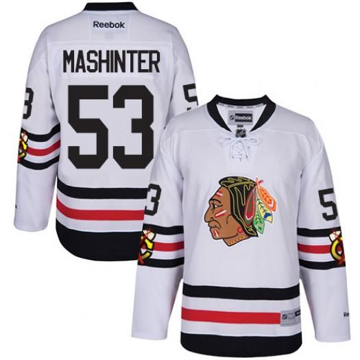 Brandon Mashinter Chicago Blackhawks Men's Reebok Premier White 2017 Winter Classic Jersey