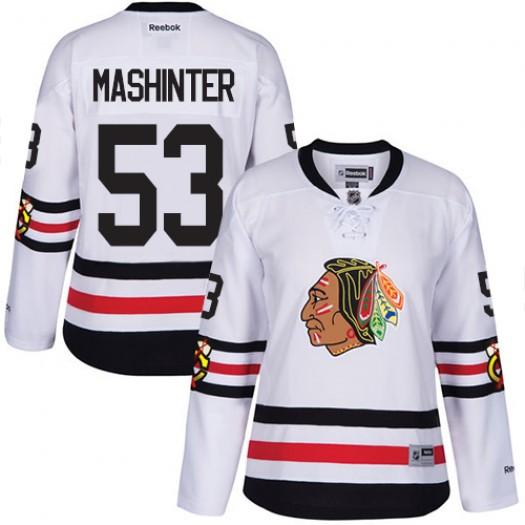Brandon Mashinter Chicago Blackhawks Women's Reebok Premier White 2017 Winter Classic Jersey