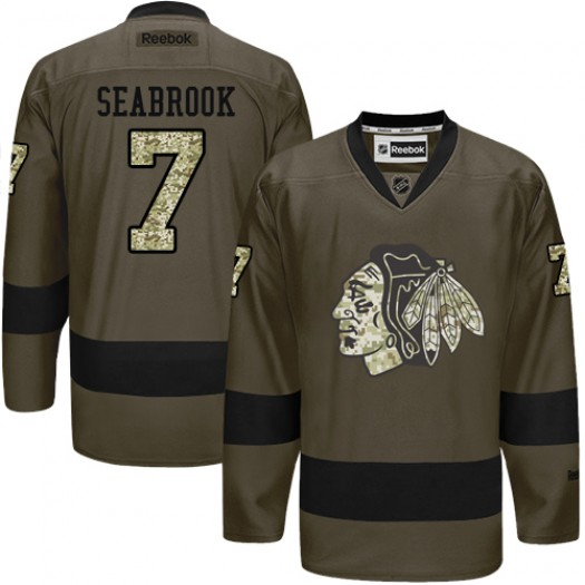 Brent Seabrook Chicago Blackhawks Men's Reebok Authentic Green Salute to Service Jersey