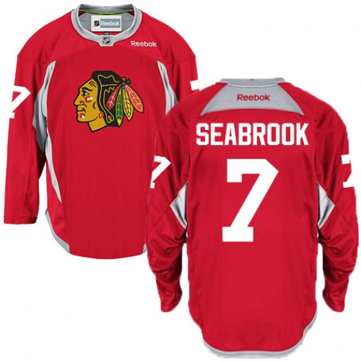 Brent Seabrook Chicago Blackhawks Men's Reebok Authentic Red Practice Jersey