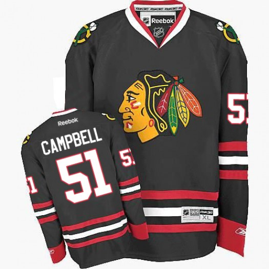 Brian Campbell Chicago Blackhawks Men's Reebok Authentic Black Third Jersey