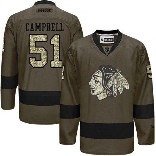 Brian Campbell Chicago Blackhawks Men's Reebok Authentic Green Salute to Service Jersey