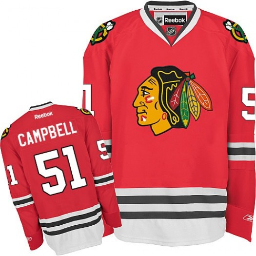 Brian Campbell Chicago Blackhawks Men's Reebok Authentic Red Home Jersey