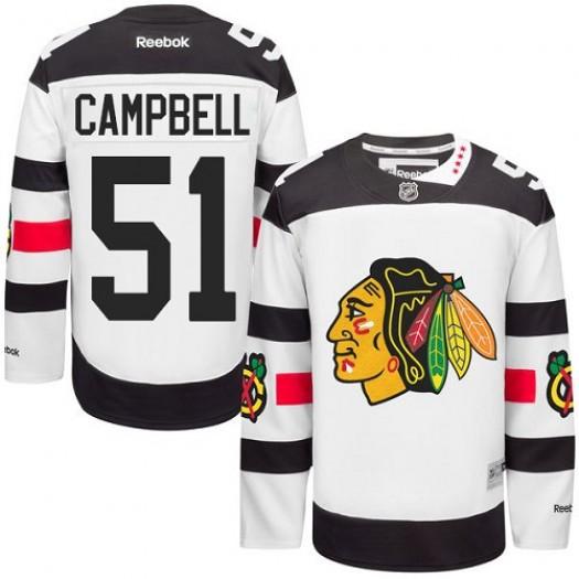 Brian Campbell Chicago Blackhawks Men's Reebok Authentic White 2016 Stadium Series Jersey