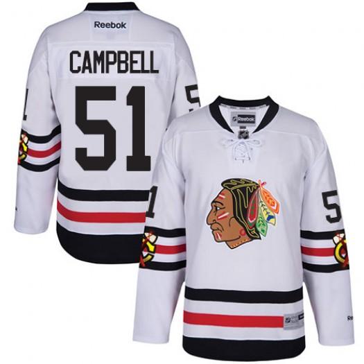 Brian Campbell Chicago Blackhawks Men's Reebok Premier White 2017 Winter Classic Jersey