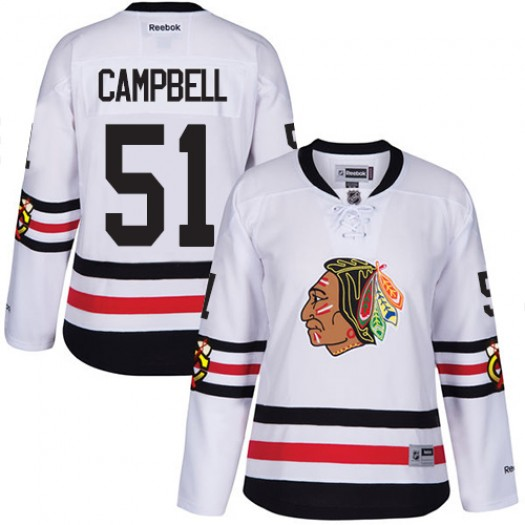 Brian Campbell Chicago Blackhawks Women's Reebok Authentic White 2017 Winter Classic Jersey
