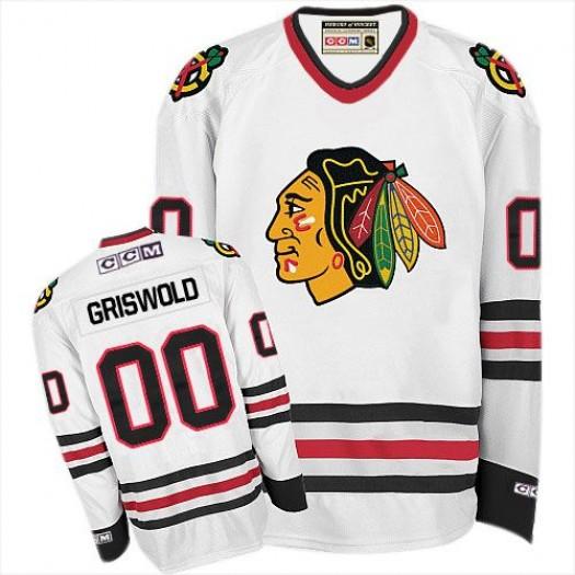 Clark Griswold Chicago Blackhawks Men's CCM Premier White Throwback Jersey