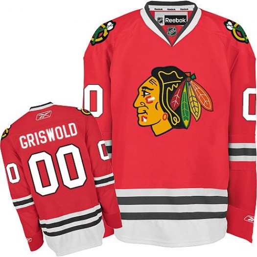 Clark Griswold Chicago Blackhawks Men's Reebok Authentic Red Home Jersey