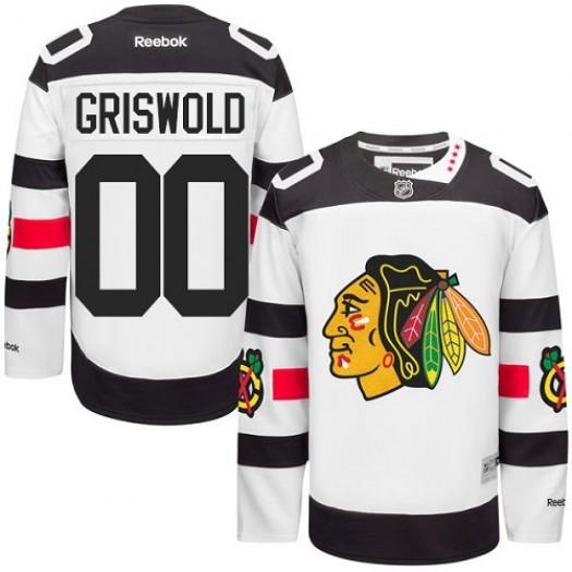 Clark Griswold Chicago Blackhawks Men's Reebok Authentic White 2016 Stadium Series Jersey