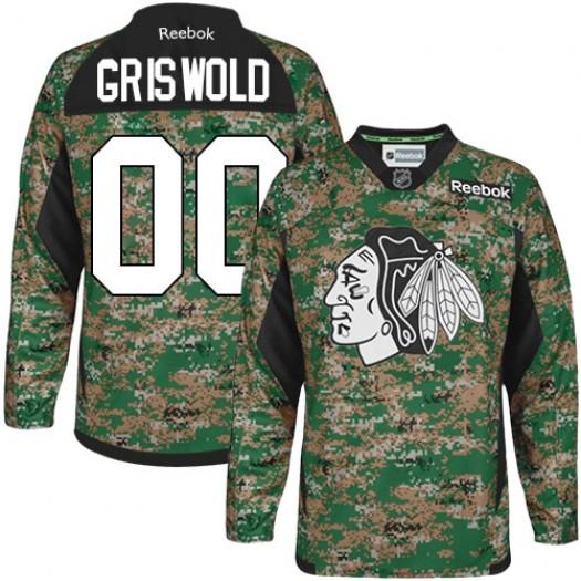 Clark Griswold Chicago Blackhawks Men's Reebok Premier Camo Veterans Day Practice Jersey