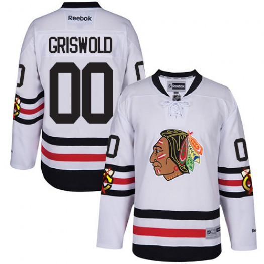 Clark Griswold Chicago Blackhawks Youth Reebok Premier White 2017 Winter Classic Jersey