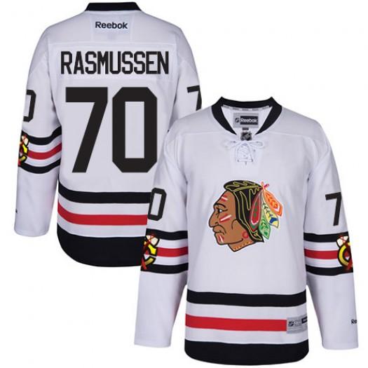 Dennis Rasmussen Chicago Blackhawks Men's Reebok Authentic White 2017 Winter Classic Jersey