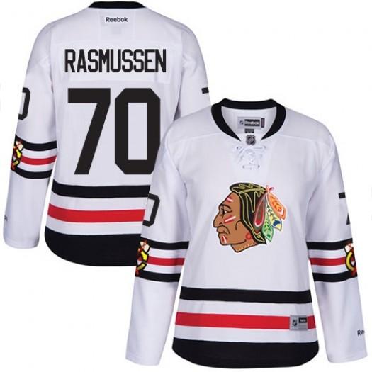 Dennis Rasmussen Chicago Blackhawks Women's Reebok Authentic White 2017 Winter Classic Jersey