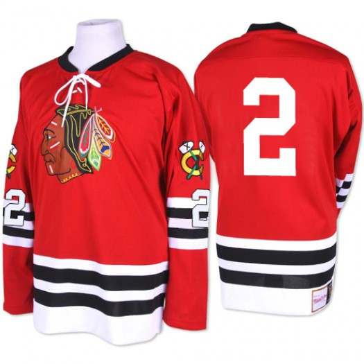 Duncan Keith Chicago Blackhawks Men's Mitchell and Ness Authentic Red 1960-61 Throwback Jersey