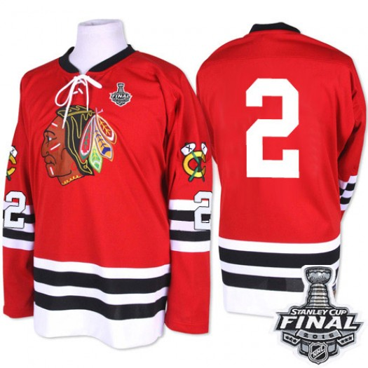 Duncan Keith Chicago Blackhawks Men's Mitchell and Ness Premier Red 1960-61 Throwback 2015 Stanley Cup Patch Jersey