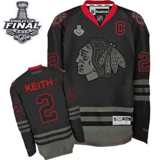 Duncan Keith Chicago Blackhawks Men's Reebok Authentic Black Ice 2015 Stanley Cup Patch Jersey