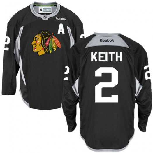Duncan Keith Chicago Blackhawks Men's Reebok Authentic Black Practice Jersey