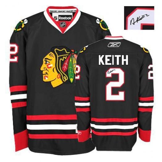 Duncan Keith Chicago Blackhawks Men's Reebok Authentic Black Third Autographed Jersey