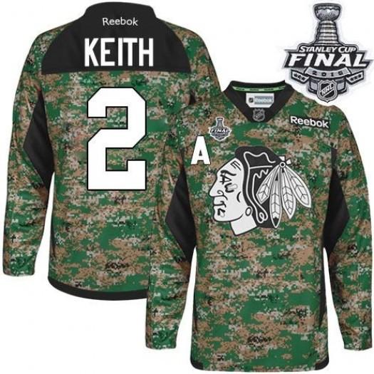 Duncan Keith Chicago Blackhawks Men's Reebok Authentic Camo Veterans Day Practice 2015 Stanley Cup Patch Jersey