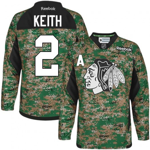 Duncan Keith Chicago Blackhawks Men's Reebok Authentic Camo Veterans Day Practice Jersey