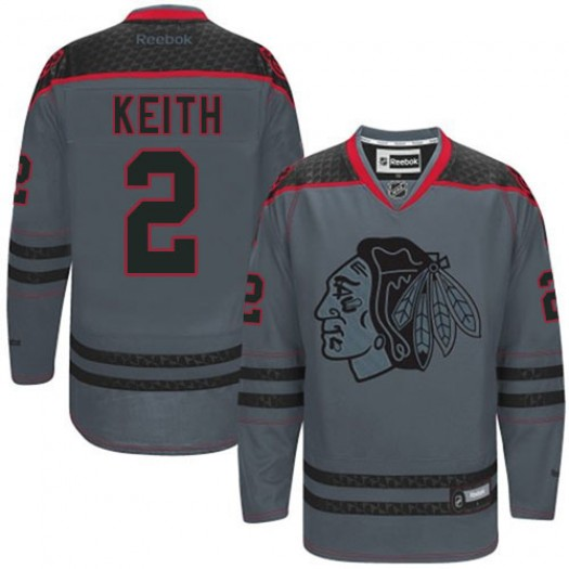 Duncan Keith Chicago Blackhawks Men's Reebok Authentic Charcoal Cross Check Fashion Jersey