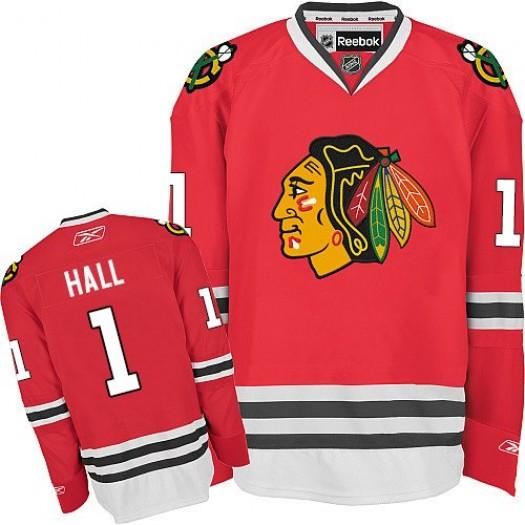 Glenn Hall Chicago Blackhawks Men's Reebok Authentic Red Home Jersey