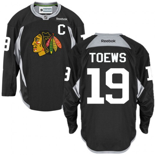 Jonathan Toews Chicago Blackhawks Men's Reebok Authentic Black Practice Jersey