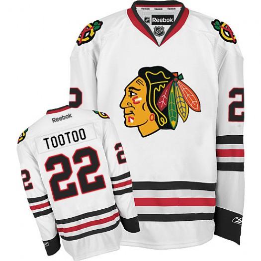 Jordin Tootoo Chicago Blackhawks Men's Reebok Authentic White Away Jersey