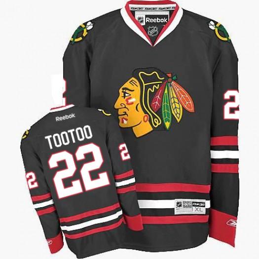 Jordin Tootoo Chicago Blackhawks Men's Reebok Premier Black Third Jersey