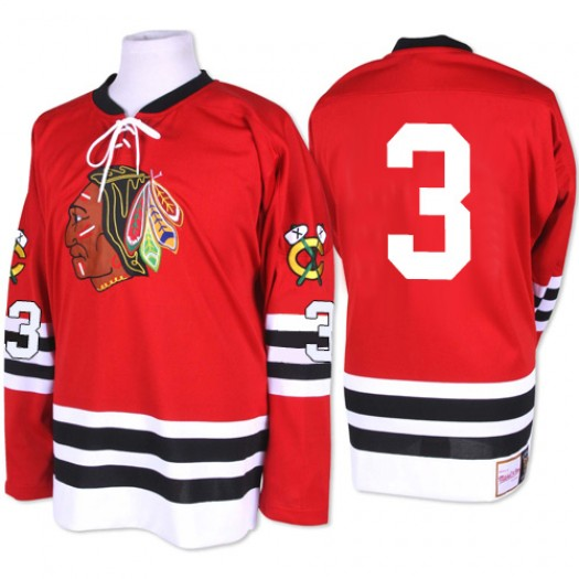 Keith Magnuson Chicago Blackhawks Men's Mitchell and Ness Authentic Red 1960-61 Throwback Jersey