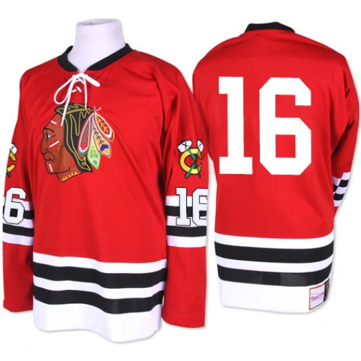 Marcus Kruger Chicago Blackhawks Men's Mitchell and Ness Authentic Red 1960-61 Throwback Jersey