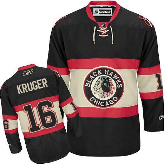 Marcus Kruger Chicago Blackhawks Men's Reebok Authentic Black New Third Jersey
