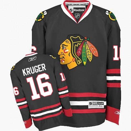 Marcus Kruger Chicago Blackhawks Men's Reebok Authentic Black Third Jersey