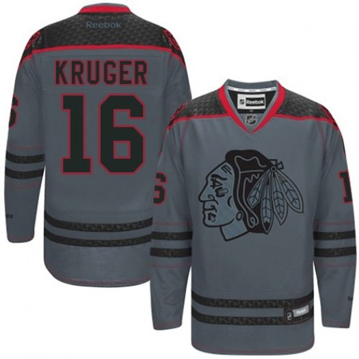 Marcus Kruger Chicago Blackhawks Men's Reebok Authentic Charcoal Cross Check Fashion Jersey