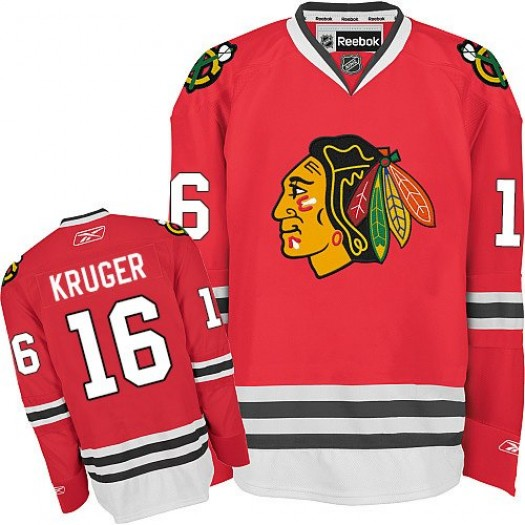Marcus Kruger Chicago Blackhawks Men's Reebok Authentic Red Home Jersey