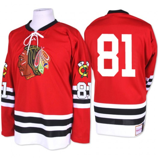 Marian Hossa Chicago Blackhawks Men's Mitchell and Ness Authentic Red 1960-61 Throwback Jersey