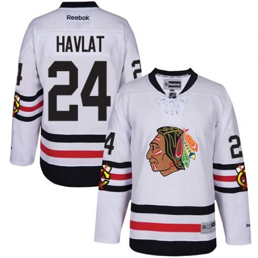 Martin Havlat Chicago Blackhawks Men's Reebok Authentic White 2017 Winter Classic Jersey