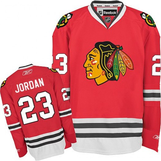 Michael Jordan Chicago Blackhawks Men's Reebok Authentic Red Home Jersey