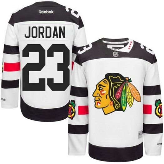 Michael Jordan Chicago Blackhawks Men's Reebok Authentic White 2016 Stadium Series Jersey