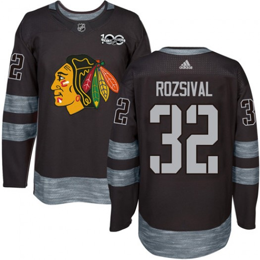 Michal Rozsival Chicago Blackhawks Men's Adidas Authentic Black 1917-2017 100th Anniversary Jersey