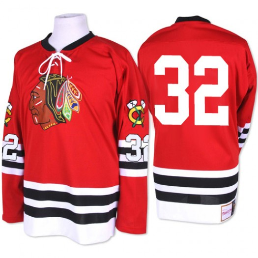 Michal Rozsival Chicago Blackhawks Men's Mitchell and Ness Authentic Red 1960-61 Throwback Jersey